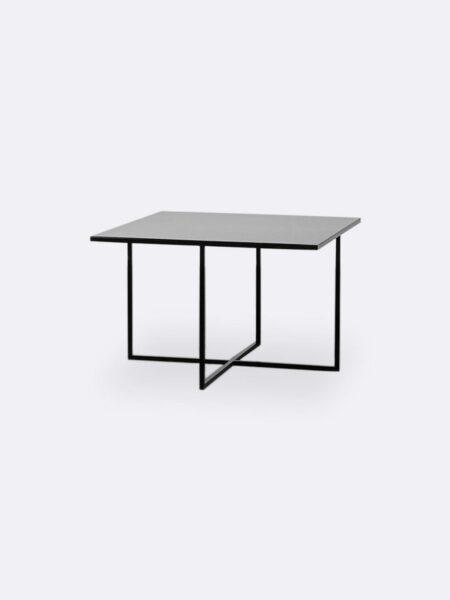 Mia black metal square coffee table small size 50x50cm