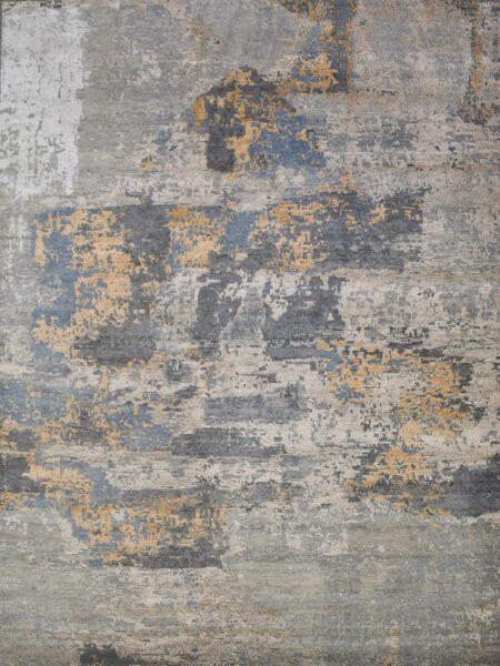 Soho 183 grey handknot rug overhead image