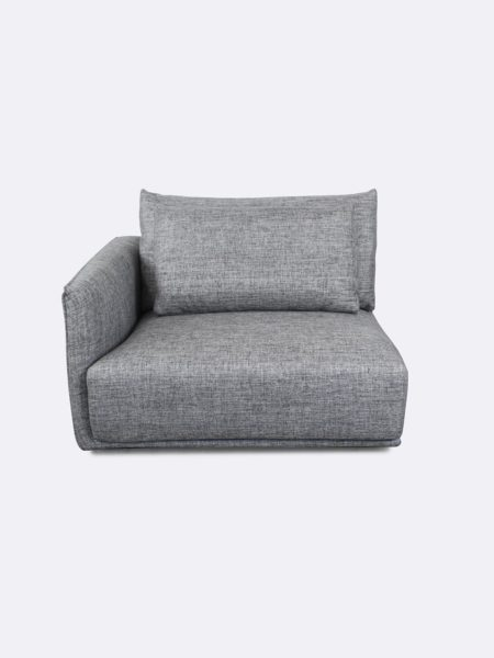 Stella Lounge Corner upholstered in Quarry grey fabric