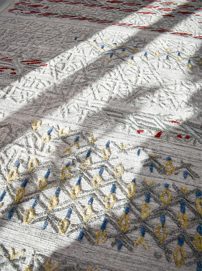 Cayenne rug in living room sunlight