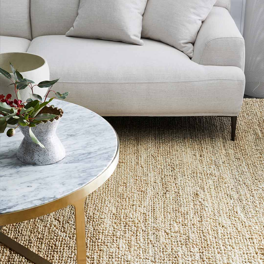 Nature jute plant fibre rugs at the rug collection