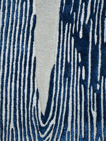 Niagara Denim organic lines textured rug in navy blue and grey